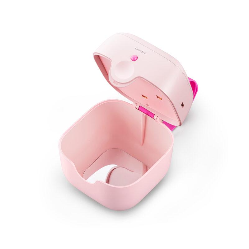 UVC Sterilisations-Box MINI in Pink geöffnet